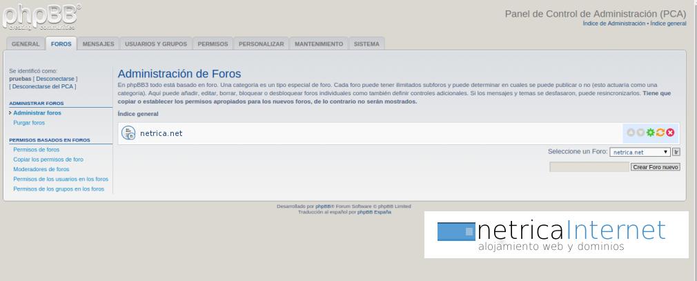 Guías phpBB3: cómo crear una categoría para tu foro - NETRICA®