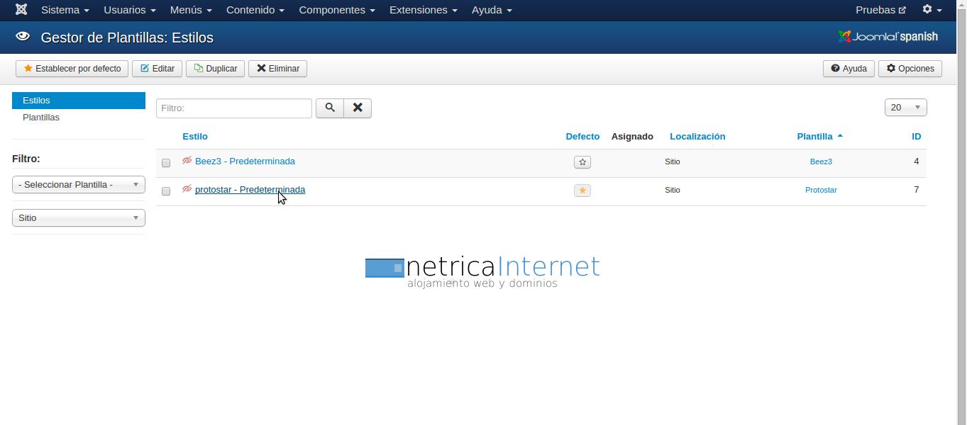 Guías Joomla: cómo insertar logotipo en Joomla - NETRICA®