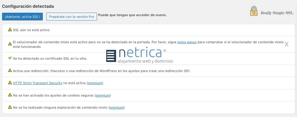 Cómo forzar a utilizar https en WordPress con el plugin Really Simple SSL